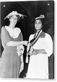Eleanor Roosevelt Presents The Spingarn Acrylic Print by Everett