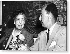 Eleanor Roosevelt Supported Adlai Acrylic Print by Everett