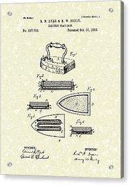 Electric Flat Iron 1883 Patent Art Acrylic Print