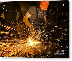 Electric Grinder In Action Acrylic Print