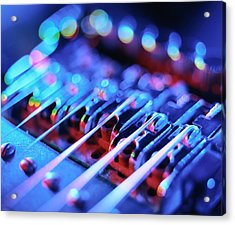 Electric Guitar Bridge Acrylic Print by Lawrence Lawry