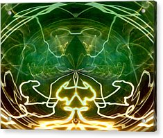 Acrylic Print featuring the digital art Electric Storm by Ginny Schmidt