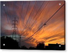 Electric Sunset Acrylic Print by Nina Fosdick