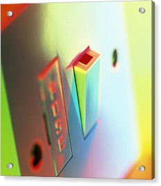 Electric Switch Acrylic Print by Tek Image