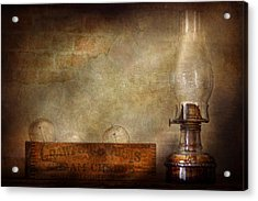 Electrician - Advancements In Lighting  Acrylic Print by Mike Savad