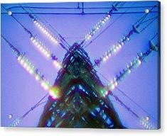 Electricity Power Pylon Acrylic Print by Richard Kail