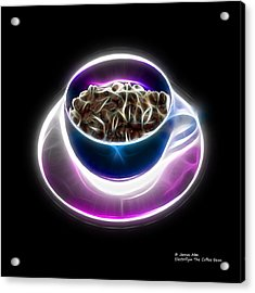 Electrifyin The Coffee Bean -version Blue Acrylic Print
