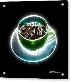 Electrifyin The Coffee Bean -version Green Acrylic Print