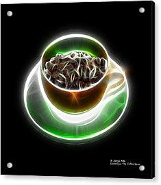 Electrifyin The Coffee Bean -version Orange Acrylic Print