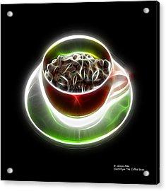Electrifyin The Coffee Bean -version Red Acrylic Print