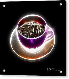 Electrifyin The Coffee Bean -version Violet Acrylic Print