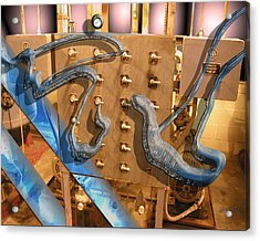 Acrylic Print featuring the digital art Electro Goo by Steve Sperry