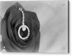Elegance In Black And White Acrylic Print by Mark J Seefeldt