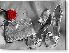 Elegant Night Out In Selective Color Acrylic Print