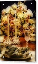 Elegant Tablesetting Acrylic Print by Trudy Wilkerson