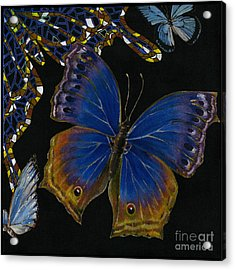 Elena Yakubovich - Butterfly 2x2 Lower Right Corner Acrylic Print by Elena Yakubovich