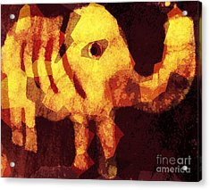 Elephant I Am Acrylic Print by Fania Simon