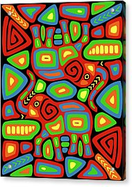 Elephant Mola Acrylic Print