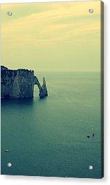 Elephant Rock In Etretat, Normandy In France Acrylic Print by Photo by Ira Heuvelman-Dobrolyubova