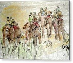 Elephants To War Without Credit Acrylic Print