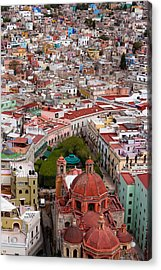 Elevated View Over The City Of Guanajuato In Mexico Acrylic Print by Mint Images/ Art Wolfe