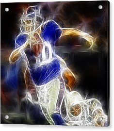 Eli Manning Quarterback Acrylic Print by Paul Ward