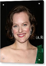 Elisabeth Moss At Arrivals For Amcs Mad Acrylic Print by Everett