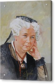 Acrylic Print featuring the painting Elizabeth Cady Stanton by Cliff Spohn