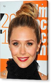 Elizabeth Olsen At Arrivals For Martha Acrylic Print