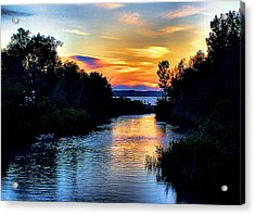 Elk Rapids Sunset Acrylic Print by Matthew Winn