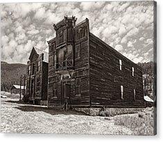 Elkhorn Ghost Town Public Halls 3 - Montana Acrylic Print by Daniel Hagerman