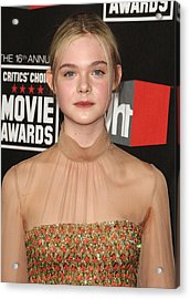 Elle Fanning At Arrivals For 16th Acrylic Print by Everett