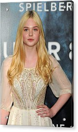 Elle Fanning At Arrivals For Super 8 Acrylic Print by Everett