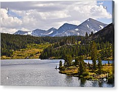 Ellery Lake Acrylic Print by Camille Lyver