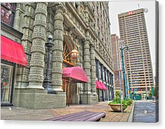 Acrylic Print featuring the photograph Ellicott Square Building And Hsbc by Michael Frank Jr