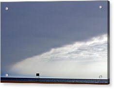 Elliptical Clouds Acrylic Print by Cedric Darrigrand