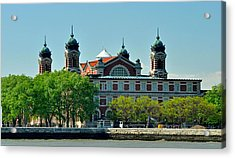 Acrylic Print featuring the photograph Ellis Island by Nancy De Flon