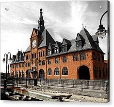 Acrylic Print featuring the photograph Ellis Island Train Station by Raymond Earley