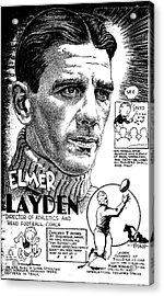 Elmer Layden Acrylic Print by Steve Bishop