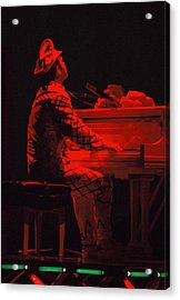 Elton In The Red Acrylic Print by Scott Smith