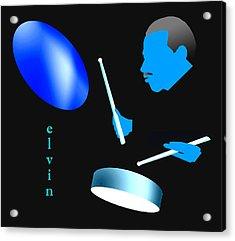 Elvin Blue Acrylic Print by Victor Bailey