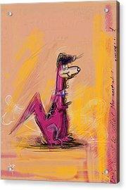 Elvis Dino Acrylic Print