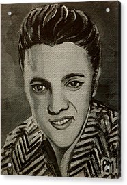 Elvis In Z Shirt Acrylic Print by Pete Maier