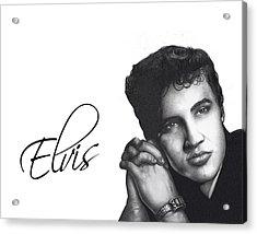 Elvis Acrylic Print by Lee Appleby