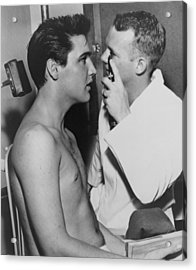 Elvis Presley, 1935-1977, Bare-chested Acrylic Print by Everett
