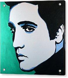 Elvis Presley - Blue Green Acrylic Print