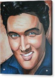 Elvis Presley Acrylic Print by Timothe Winstead