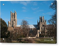 Ely Cathedral In City Of Ely Acrylic Print by Andrew  Michael