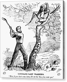 Emancipation Cartoon, 1862 Acrylic Print by Granger