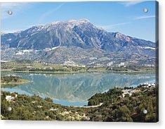 Embalse De La Vinuela, Vinuela Reservoir, Spain Acrylic Print by Ken Welsh